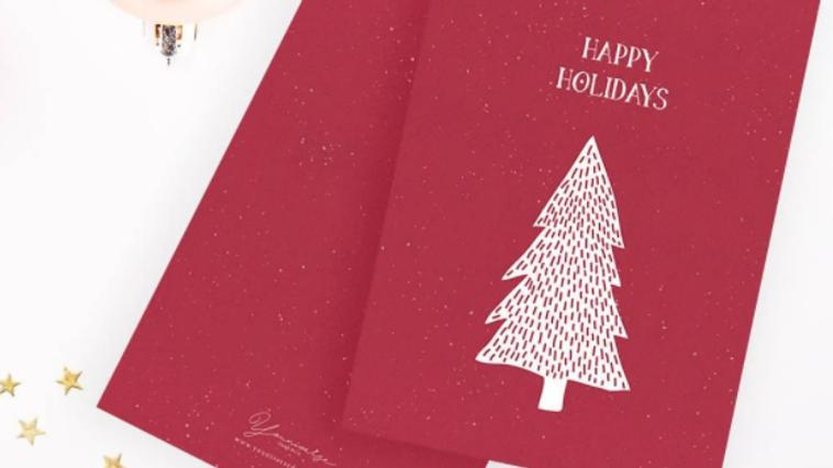 Christmas Red Tree Card