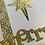 Thumbnail: Handmade Gold Merry Christmas Card