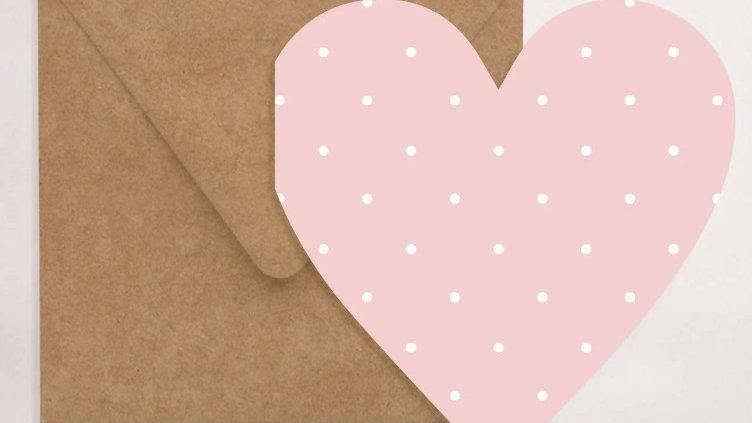 Pink Loveheart Card