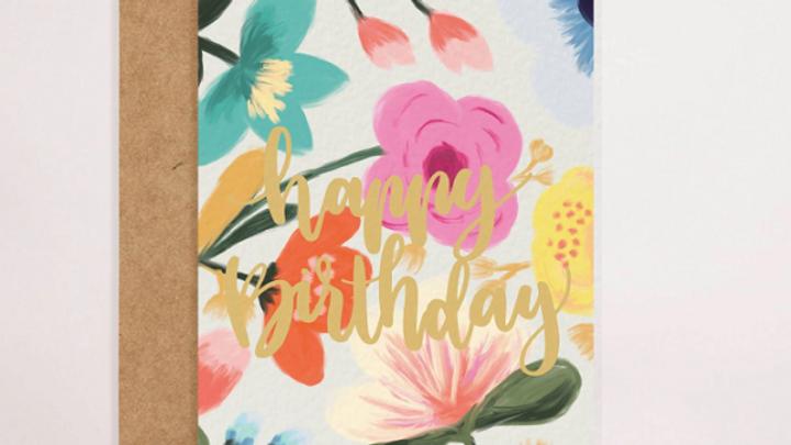Colourful Happy Birthday Card