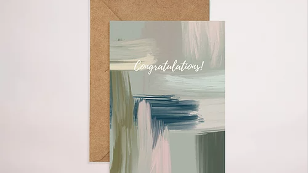 Green Abstract Congratulations!