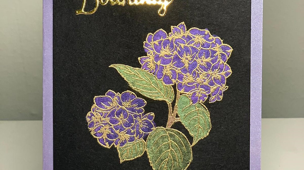 Lux Happy Birthday Purple Card