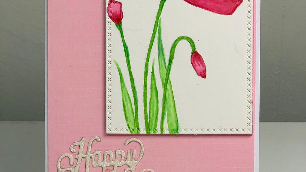 Hand-made birthday card