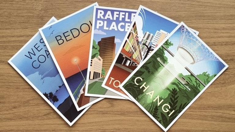 Singapore Neighbourhood Postcards - 5 Pack