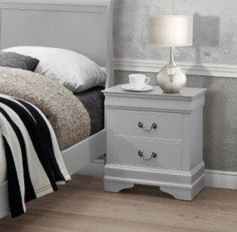 Louise Grey Bedside Locker