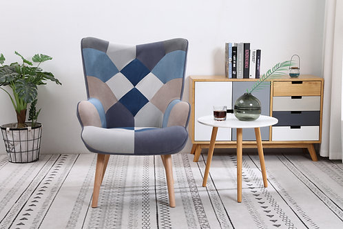 Taylor Blue Patchwork Chair