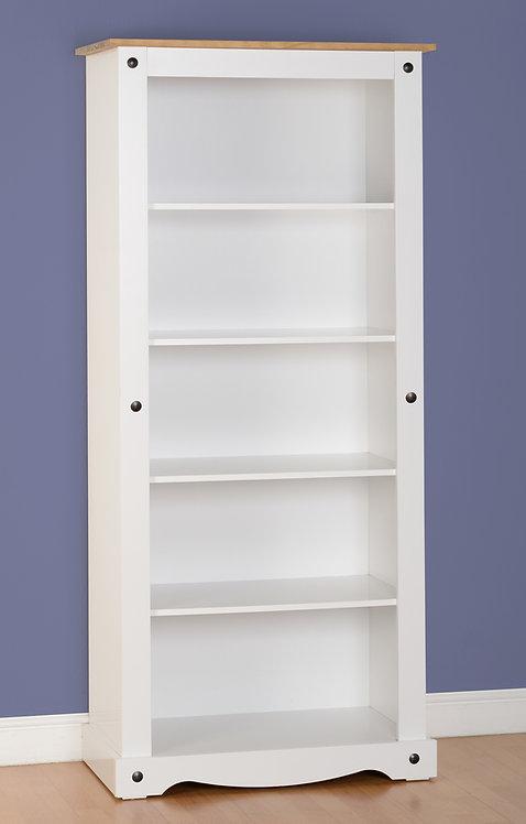 Corona Tall Bookcase - White
