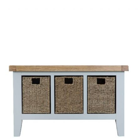 Toulouse Hall Bench Grey