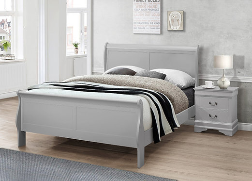 Louise Grey Bed Frame