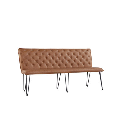 Chicago Studded Back Bench with Hair Pin Legs (180cm)