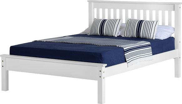 Monaco Bedframe - 4FT6 Low End - White