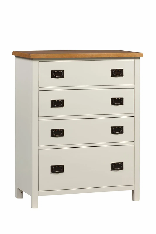 Coonagh 4 Drawer Tall Chest Ivory