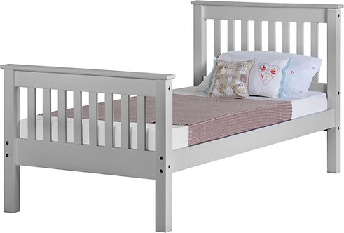 Monaco Bedframe - 3FT High End - Grey