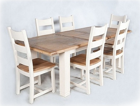 Danube Extendable Dining Set - White