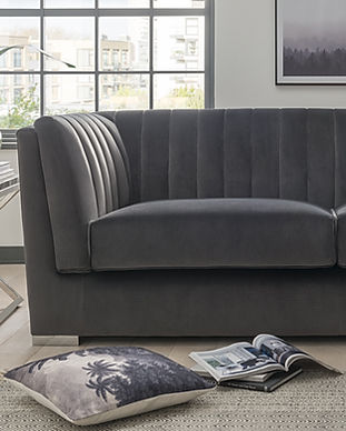 Upton 3 Seater Charcoal with Tephra Occa