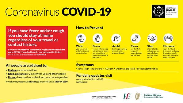 COVID-19 Public Information Screen Poste
