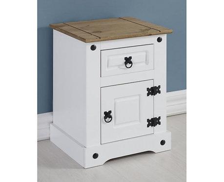Corona Petite Beside Cabinet - White