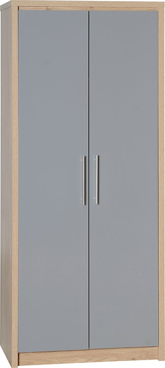 Seville 2 Door Wardrobe - Grey