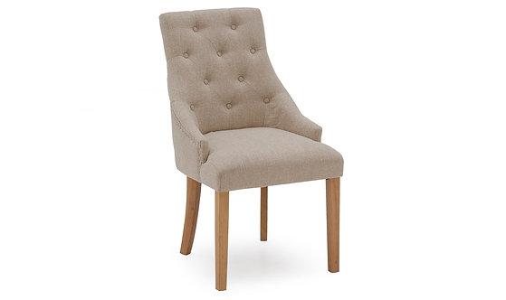 Hobbs Linen Dining Chair - Beige