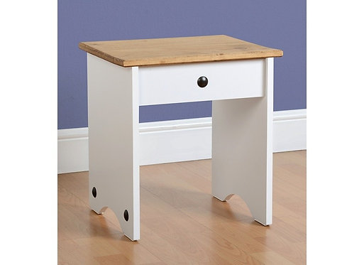 Corona Dressing Table Stool - White