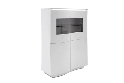 Lazzaro Display Unit - White Gloss with LED