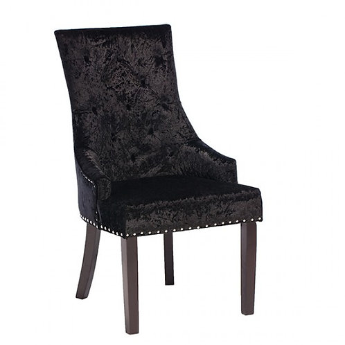 Eden Knockerback Chair - Black