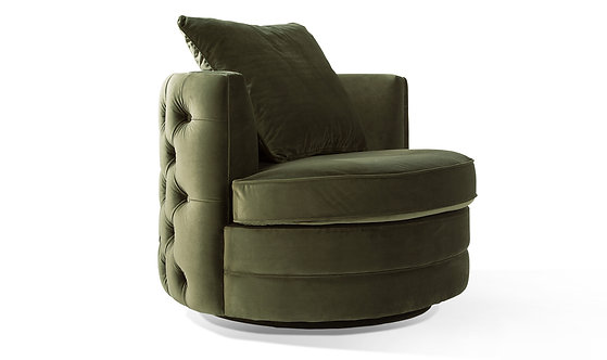 Jools Swivel Chair - Olive