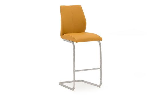 Elis Bar Chair - Chrome Leg Pumpkin