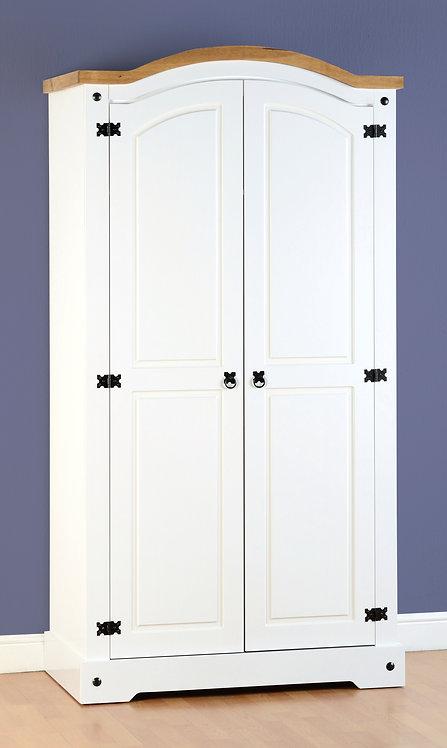 Corona 2 Door Wardrobe - White