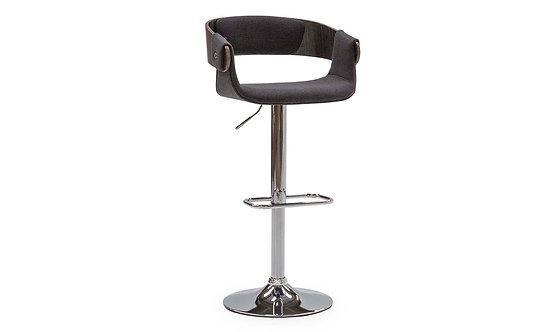 Rita Bar Chair Gas Lift - Charcoal Fabric