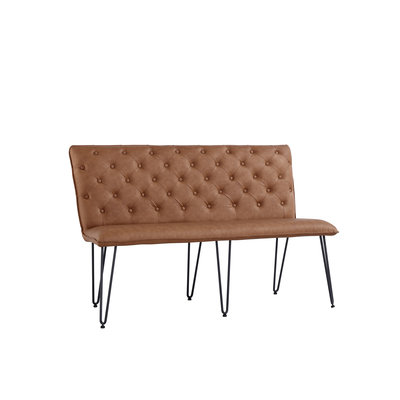 Chicago Studded Back Bench with Hair Pin Legs (140cm)