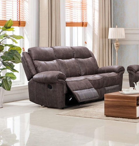 Lisbon Brown 3 Seater Recliner