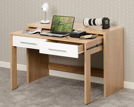 Seville 2 Drawer Slider Desk - White