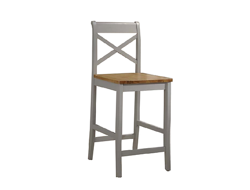 Clermont Bar Stool - Grey & Oak