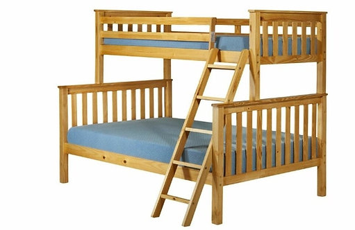 Triple Bunk Bed Honey Pine