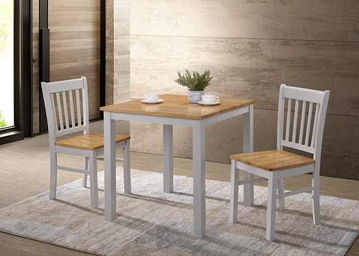 Galina 2 Person Dining Set Grey