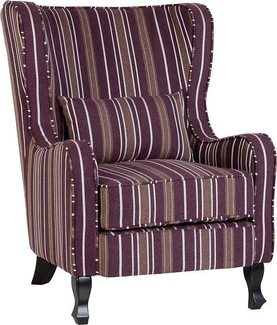 Sherbourne Fireside Chair - Burgundy