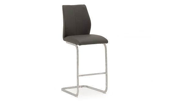 Elis Bar Chair - Chrome Leg Grey