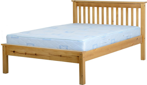 Monaco Bedframe - 4FT6 Low End - Antique Pine