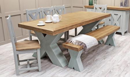 Maximus 1.9m Dining Set - Grey