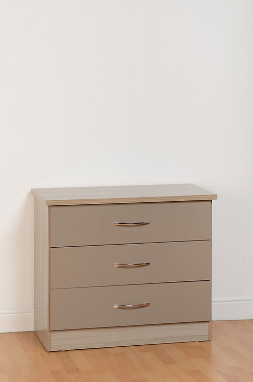 Nevada 3 Drawer Chest - Oyster