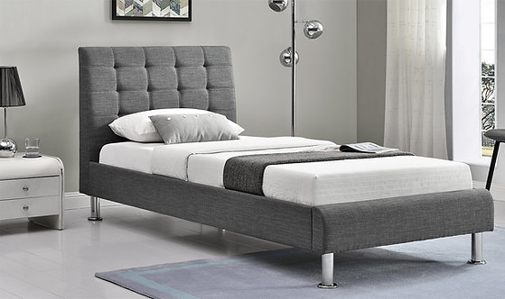 Lyra Fabric Bed - Charcoal