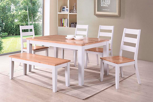 Rona Dining Set (4 Chairs & Bench)