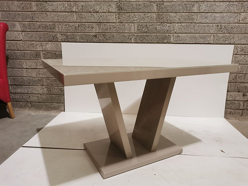Valentino 120cm Taupe High Gloss Table