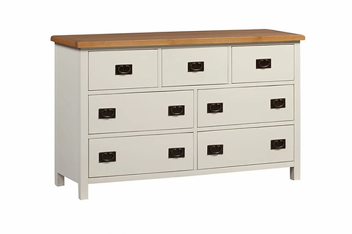 Coonagh 7 Drawer Wide Chest Ivory