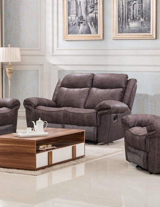 Lisbon Brown 3 & 2 Reclining Suite