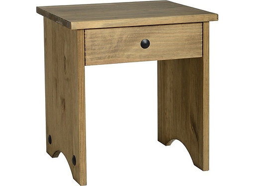 Corona Dressing Table Stool - Distressed Waxed Pine