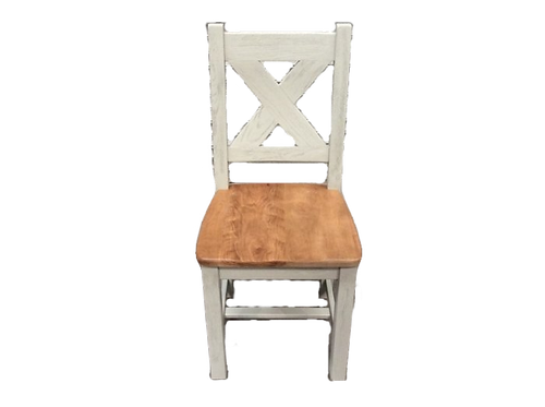 Maximus Solid Oak Dining Chair - Grey