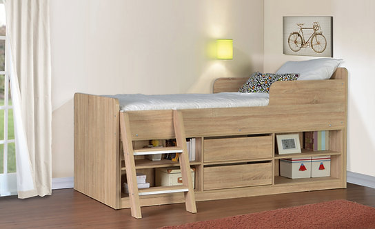 Felix Low Sleeper Bed - Sonoma Oak