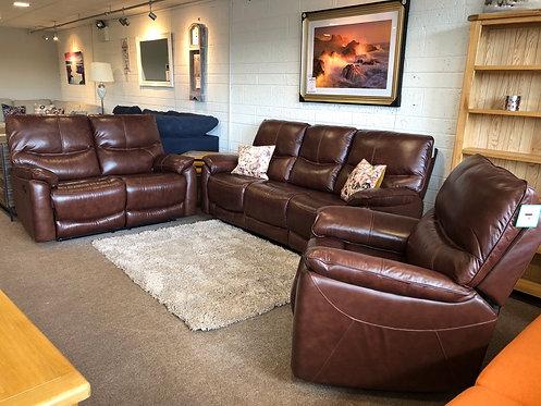 Sanremo Full Leather Suite